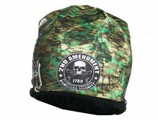 2nd Amendment Green CAMO Beanie Knit Cap Biker Skull Hat Ski NRA Gun USMC Army