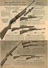 1967 ADVERT Dick Hart Judy Kimball Golf Clubs Daisy BB Gun Air Rifle M1 WW II