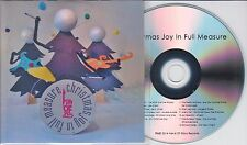Christmas Joy In Full Measure UK 12-trk promo test CD Mary Epworth Young Knives