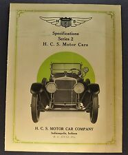 1921 HCS Series 2 Sales Brochure Folder Stutz Nice Original 21