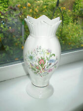 Aynsley Wild Tudor Vase 21 cm Tall Fine Bone China 1st Quality British