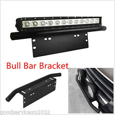 1 Pcs Black Autos Heavy Duty Bull Bar Fog Lights Mounting Install Bracket Holder