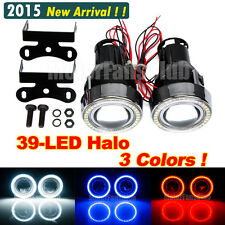 "3.0"" 39-LED Universal LED HID Fog Lamp DRL Light Projector Angel Eye Halo New"
