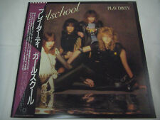 GIRLSCHOOL-Play Dirty JAPAN 1st.Press w/OBI NWOBHM Iron Maiden Motorhead Saxon