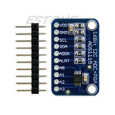 ADC 4 channel 16 Bit I2C ADS1115 Module with Pro Gain Amplifier for Arduino RPi