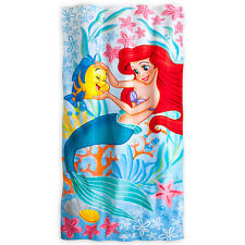 NEW Disney Store Princess ARIEL LITTLE MERMAID FLOUNDER  BEACH TOWEL Bath 30x60