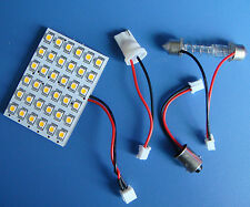 10pcs 12V Dome Bulb 36-1210SMD LED,Warm White +Adapter(BA9S/T10/Festoon 31~44mm)