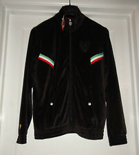 Men's Puma Ferrari Velour Track Jacket Black Zip Up $100 NWT Size Small TL18548