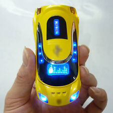 W8 yellow Sports car Unlocked cell phone Quad Band Dual SIM card MP3 phone