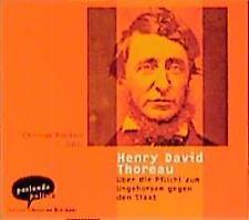 Thoreau, Henry David - Über die Pflicht zum Ungehorsam gegen den Staat - CD