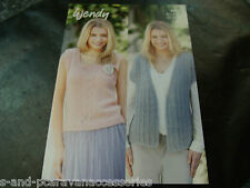 Wendy Double Knit Pattern 5992 Cap Sleeve Jacket and S/less Top 81/86 -122/127 c