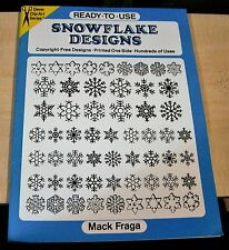 AF0417 CLIP ART BOOK Ready to Use SNOWFLAKE DESIGNS Dover Intact Uncut