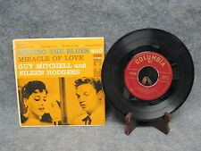 "45 RPM 7"" Record Guy Mitchell & Eileen Rodgers Singing The Blues Columbia B-2117"