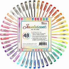 US Art Supply Jewelescent 48 Color Gel Pen Set Professional Artist Quality Ge...