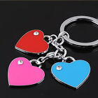 HJ Three Heart Keyring Alloy Key Holder Ring Pendant Bag Keychain Funny Gift