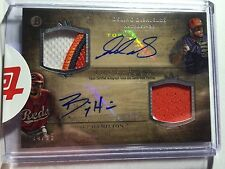 2014 Bowmans Inception Billy Hamilton Delino Deshields Auto #d 4/15 Jersey Reds