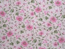 Stoff Baumwolle@Blümchen rosa grün@Florencia Ökotex Blumen Streublümchen rot