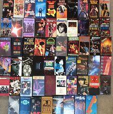 HUGE Lot 59 Rock Metal VHS Rock Concert Tapes AC/DC, Hendrix, Pink Floyd & MORE