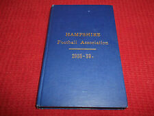 Book Hampshire Football Association 1938-39 Results from 1937/8 Season + Preview