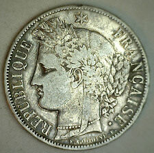 1850 A France 5 Francs Km#761.1 Silver Vf World Coin #P