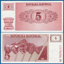 SLOWENIEN / SLOVENIA 5 Tolarjev 1990  UNC  P.3