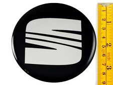 "SEAT *4 x NEW* Emblems 90mm (3 1/2"") WHEEL CENTER CAP STICKERS 3D DECALS"