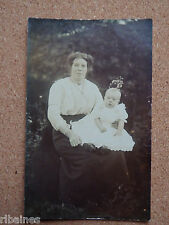R&L Postcard: Edwardian Portrait of Mother and Baby Girl, Good Fashion Clothing