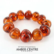 Genuine German Cognac Amber Bracelet W104 and RRP£495!!!