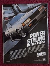 1982 Print Ad Nissan Datsun 200-SX Car Automobile ~ Power Styling