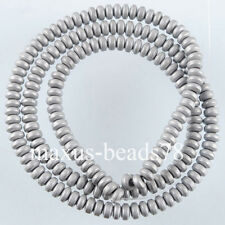 Free shipping Silver Hematite Gemstone Rondelle 2x4mm Beads 15.5Inches MG1657
