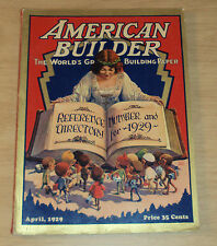"""1929 Magazine """"AMERICAN BUILDER""""~Special Reference/Directory Edition~AMAZING~"""