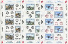 ÖSTERREICH - TAG DER BRIEFMARKE KLEINBOGEN 2004 2005 2006 FLUGZEUGE AIRPLANES **