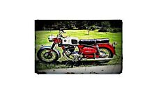 1961 Puch 250 Bike Motorcycle A4 Retro Metal Sign Aluminium