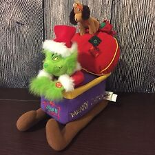 Dr. Seuss How the Grinch Stole Christmas Sleigh Plush(Music Works/No Animation)
