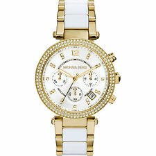 New Michael Kors Ladies Gold Parker Watch - MK6119 - Next Day Del, Warranty