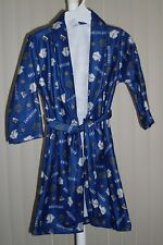 Boys Fleece Robe Navy Expedition Print New 4/5