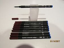10 Schmidt 888 Rollerball MEDIUM BLUE Refills-Fit most Rollerball Pens+FREE PEN