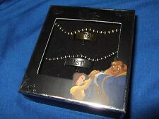 Disney Beauty And The Beast His Her Ring Necklace Collectible Gift Box Set Belle