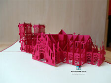 Massive London Westminster Abbey Wedding Birthday Card Gift Pop Up Kirigami UK