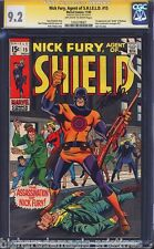 NICK FURY AGENT OF S.H.I.E.L.D #15 CGC 9.2 OWW SS STAN LEE SIGNED #1203278007