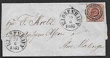 Denmark covers 1853 YV 2 folded cover Kopenhagen to STORE HEDINGE