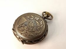 BEAUTIFUL C. BOURQUIN LOCLE LADIES .800 SILVER POCKET WATCH ~CIRCA 1890~