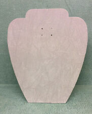 Set of 5 Jewellery Display Card Busts [A] Grey Suedette