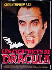 Affiche 120x160cm LES CICATRICES DE DRACULA 1970 Christopher Lee, Waterman TBE