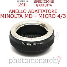 Anello adattatore obiettivo MINOLTA MD su MICRO 4/3 4:3 OLYMPUS PANASONIC