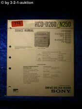 Sony Service Manual HCD D260 / N250 Component System (#0718)