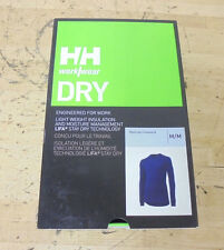 Helly Hansen Kastrup Crewneck Long Sleeve Dry Work Shirt, Navy