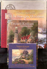 Thomas Kinkade Bundle Including X-Mas Plate Sleighride Home-2 Cd's & 2 Books