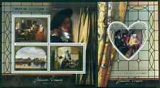 Johannes Vermeer Baroque Art Paintings Madagascar MNH stamp set 4val +s/s