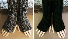 Fingerless Gloves, Wrist Warmer Cabled Arm Warmers, Womens Chunky Knitted Glove